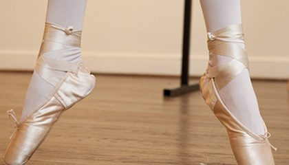 SENIOR BALLET – PINK AND SILVER SLIPPERS